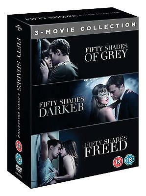 Fifty Shades Of Grey 1-3 Movie Collection Complete Dvd Xmas Special Box Set New