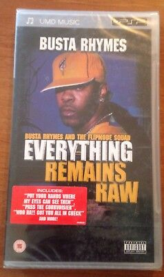 BUSTA RHYMES: EVERYTHING REMAINS RAW UMD MUSIC for Sony Playstation Portable PSP