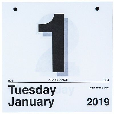 """2019 At-A-Glance K1-50 Today Is Tear Off Wall Calendar Refill, 6 x 6"""""""