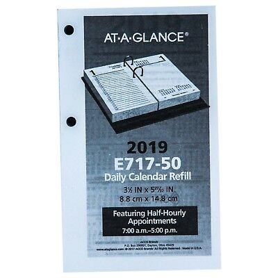 "2019 At-A-Glance E717-50 Daily Calendar Refill 3-1/2 x 5-27/32"", 17 Style"