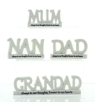 Thoughts of You Resin 3D Memorial Words Nan Grandad Dad Mum Grave Ornament