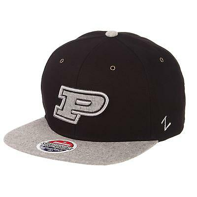 competitive price 2eaa3 af3d7 Purdue Boilermakers Zephyr ZHATS NCAA Boss Snapback Cap Hat - New with Tags
