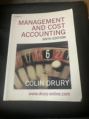 Management and Cost Accounting by Colin Drury (Paperback, 2004)