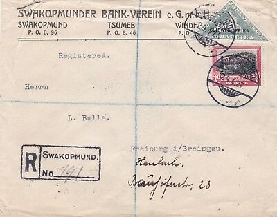 South West Africa Rare Cover with SWA Triangle Stamp on Registered Cover