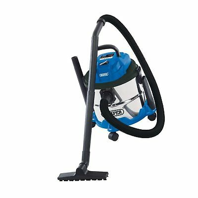 Draper 20514 Wet and Dry 1250W Vacuum Cleaner with 15 Litre Stainless Steel T...