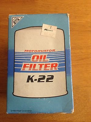 Vintage Motorvator K-22 Oil Filter new in box K-mart NOS