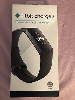 New & Sealed Fitbit Charge 3 Activity Tracker with Classic Band - Small & Large