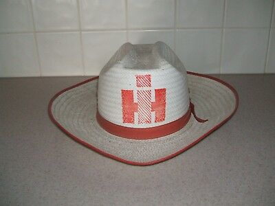 Vintage IH INTERNATIONAL HARVESTER Cowboy Hat LARGE Cub Cadet Farmall 60s