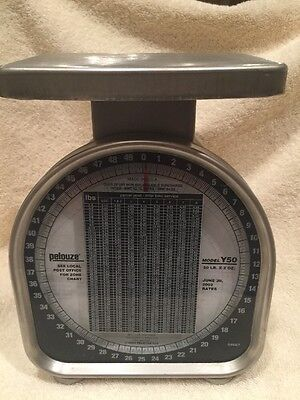 Scale PELOUZE POSTAGE SCALE METAL Rustic country Steampunk Work Of Art
