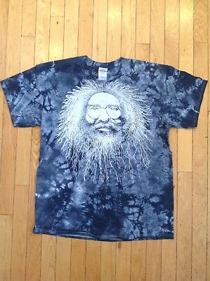 Jerry Garcia Big Face T-Shirt All Over Grateful Dead Tie Dye Size Large