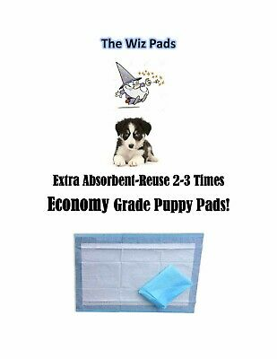 """300-17x24"""" Extra Absorbent Wiz Economy Grade Quilted Puppy Pee Piddle Pads"""