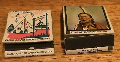 Vtg Matchbook Covers. (2) Cheyenne, Wyoming. Free Shipping.
