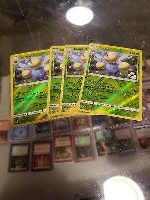 4x Pokemon TCG Jumpluff 14/214 Reverse Rare SM Lost Thunder League Promo Foil NM