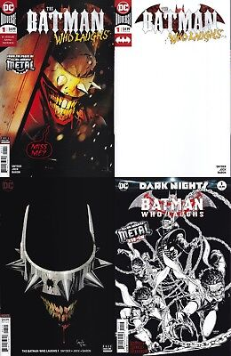 Batman Who Laughs #1 VARIANT 4 Pack Metal Tie-in Variant NM Ships FREE FAST NOW!