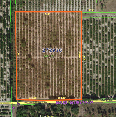Pre-Foreclosure - 9.05 Acre(s) Waterfront Land Lot Florida, Polk County