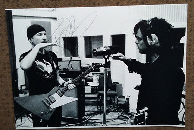 "THE EDGE signed photo 10x8"" - U2 -- GENUINE AUTOGRAPH - U2"