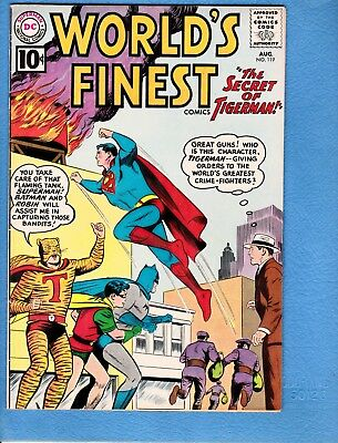 World's Finest #119, 1961, FN/VF 7.0, Tiger-Man appears