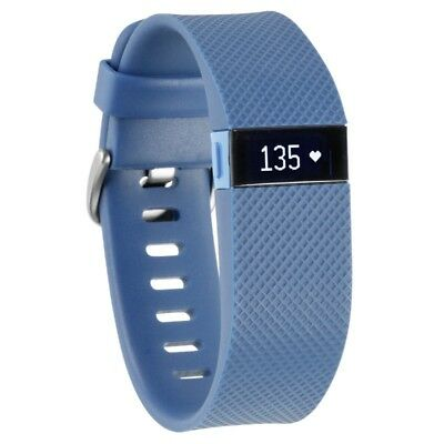 New Fitbit Charge HR Wireless Activity & Heart Rate Wristband Large BLUE