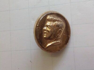 John F. Kennedy Plastic Pin Back Button