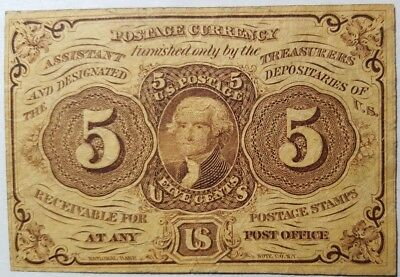 1862 Fractional Currency 1st Issue 5 Cent