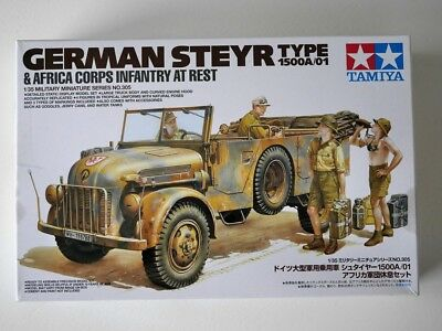 Tamiya 1:35 - 35305 - WW2 - Steyr Typ 1500A & Africa Corps Infantry at rest