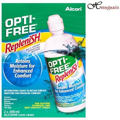 Opti-Free Replenish Contact Lens Solution 2 X 300ml (3 Months Pack)