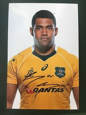 Scott Sio - Australia Rugby Player Signed 6x4 Photo