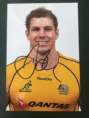 David Pocock - Australia Rugby Player Signed 6x4 Photo