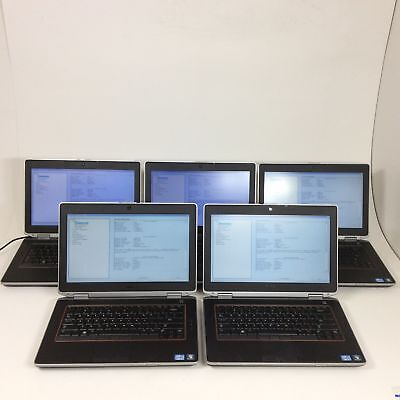"LOT OF 5 - 14"" Dell Latitude E6420 Intel Core i7-2620M 2.7GHz 4GB - Boot To BIOS"