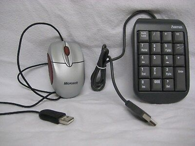 Hama Slimline Keypad SK 100 und Notebook Optical Mouse