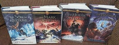 Set of The Heroes of Olympus by Rick Riordan. Hardcover Lot of Books 2 thru 5