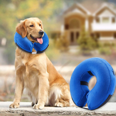 Inflatable Collar for Dogs and Cats Soft Pet Protective Recovery Collar LARGE