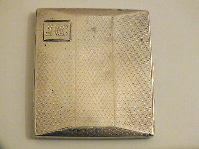 Antique Art Deco Solid Silver - Gilded - Facetted Shaped Cigarette Case