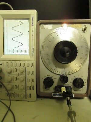 HP 202C Audio Oscillator 1Hz-100kHz 20V into 600 Ohm 0.5% dist. WORKING! 80V max