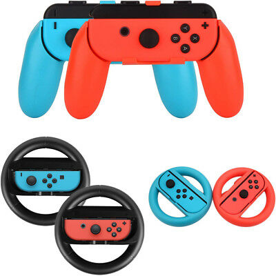 For Handle Nintendo Switch Controller Steering 2 Wheels Joy-Con Pcs