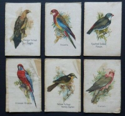 Birds and Animals of Australia SILK CARDS issued 1911-1917 QUILTING or PATCHWORK