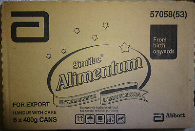 6 x 400g Cans of Similac Alimentum Hypoallergenic Infant Formula Baby Milk tins