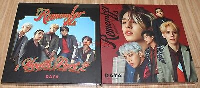 DAY6 Remember Us : Youth Part 2 Rew + FF Ver. 2 CD + PHOTO CARD + FOLDED POSTER