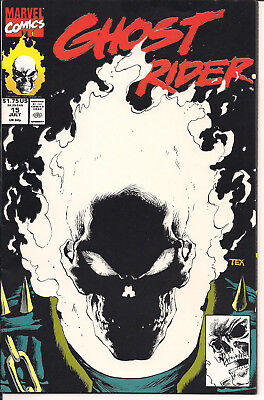 Ghost Rider #15 VF+ Marvel Comics 1991 Glow In The Dark Cover!