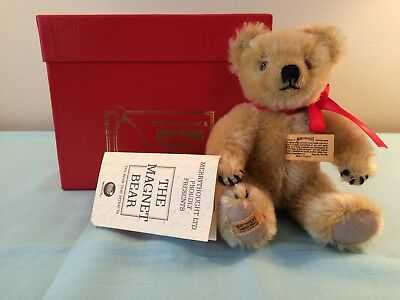 Merrythought Lt Gold Teddy Bear Mohair The Magnet Bear 1932 replica NEW IN BOX
