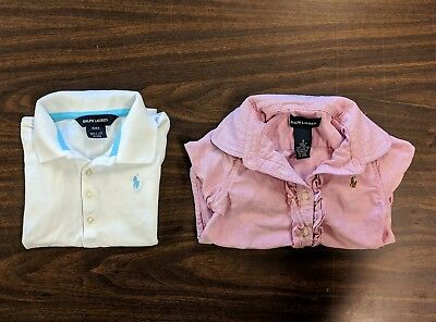 LOT of 2 - Girl's RALPH LAUREN POLO Shirts SHIPS FREE! Size 4T