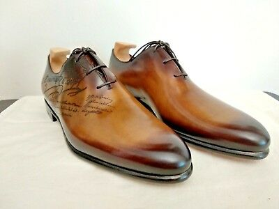 Berluti Alessandro Galet Engraved Calf Leather Oxford 8