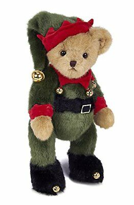 "Bearington Jingle Toes Plush Christmas Elf Teddy Bear 14"" PARTY SUPPLIES"