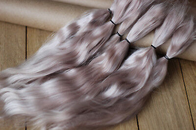 "Mohair Doll Hair color pink-blond 8-12"" in 0.35 oz locks angora DIY baby reborn"