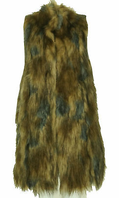 International Concepts Women's Faux Fur Knit Back Vest Gray Size Medium $190