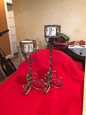 Rustic Candle Holders Two