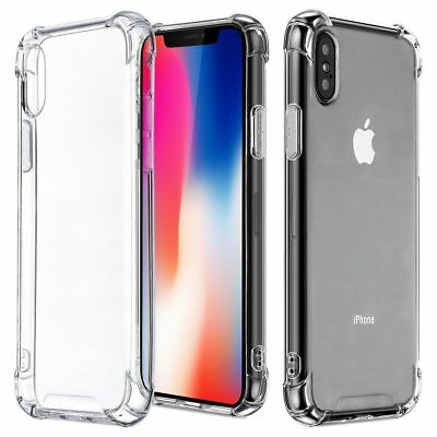 Case cover for apple iphone XS Max X XR 6 7 8 PLUS samsung s8 s clear shockproof