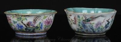Two Antique Chinese Tongzhi Mark and Period Famille Rose Bowls