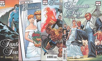 Fantastic Four Wedding Special #1 1St Print Artgerm  Ferry & Martin 4 Cvr Set Nm