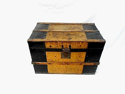 Antique Trunk Small Childs Trunk Doll Trunk Late 1800's